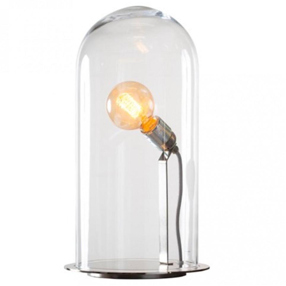 ... poser Lampe à poser Shadow - la grande - argent et verre transparent.  Globe - verre transparent-argent- S. Loading zoom 2c1b71f49525