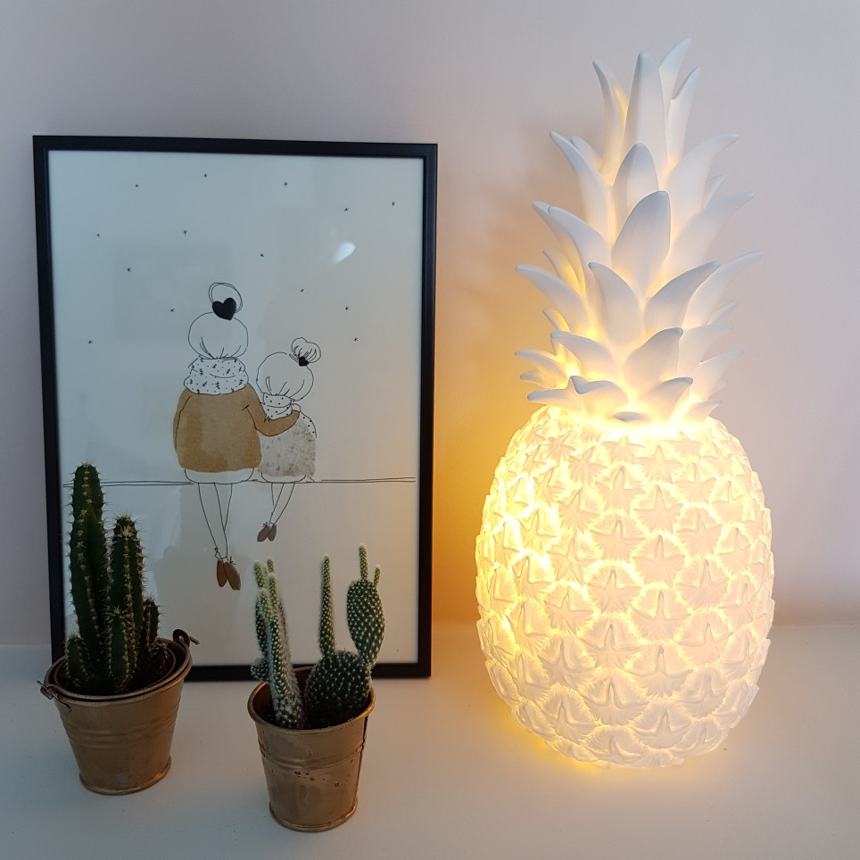 Lampe à poser Ananas Goodnight Light blanc