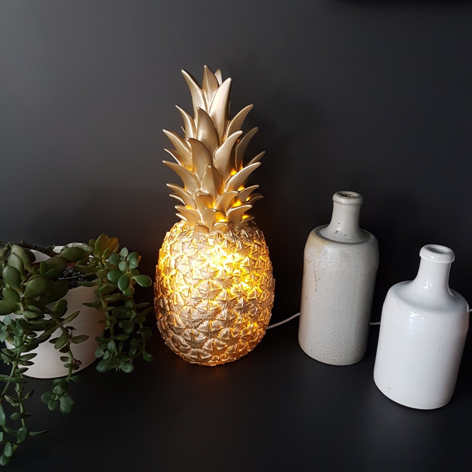 Lampe à poser Ananas Goodnight Light doré