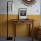 lampadaire L'Illuminé abat- jour cylindrique en tissu crème