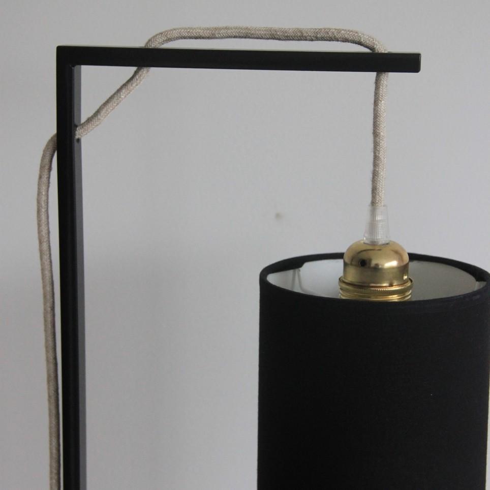 lampadaire L'Illuminé abat-jour tissu cylindrique