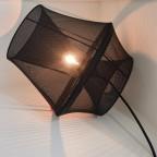 Lampe à poser ou suspension Moire noire